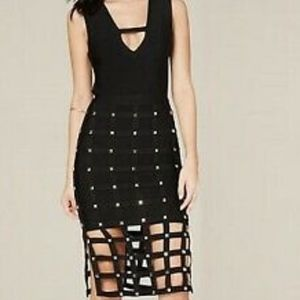 Bebe Petite Sia Cage Skirt Dress